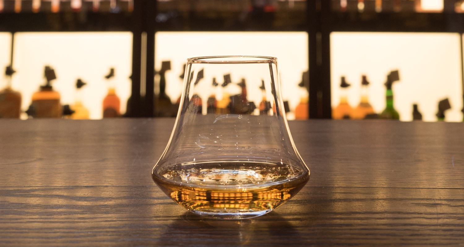 D&L Whisky Glass close up