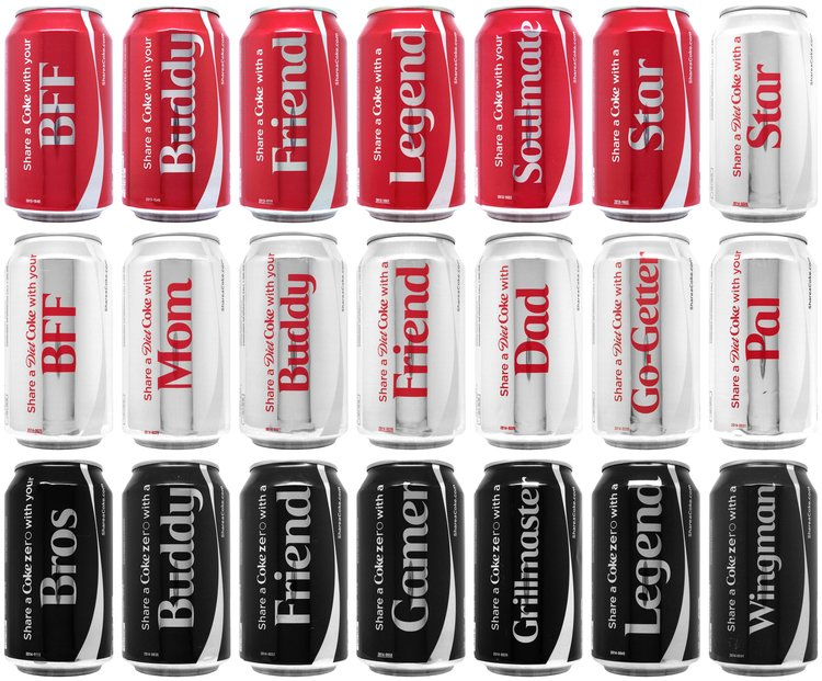 Personalised Coke Cans