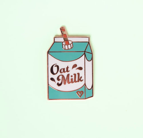 Oat Milk Enamel Pin