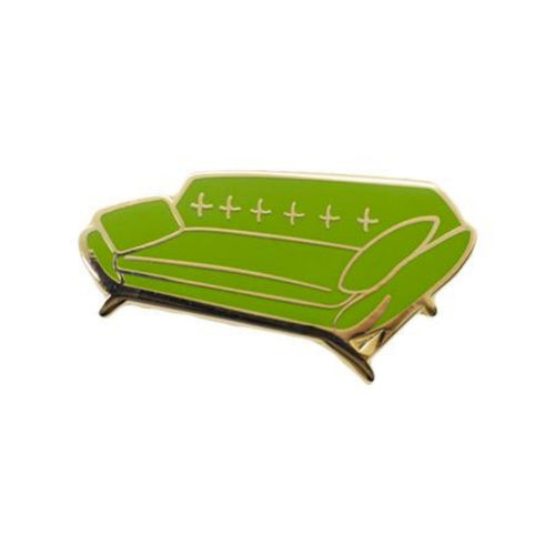 Mid Century Vintage Couch Enamel Pin