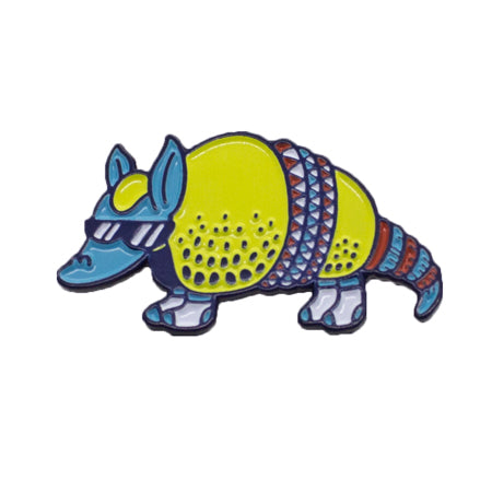 Cool Armadillo Enamel Pin