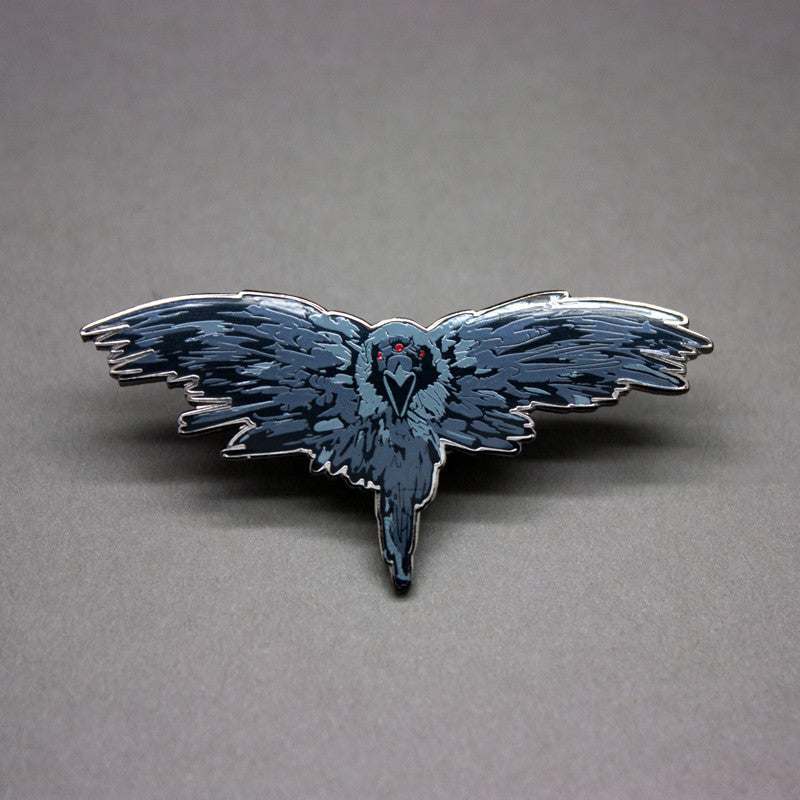 Three Eyed Raven Enamel Pin