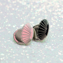 Clamshell Compact Enamel Pin