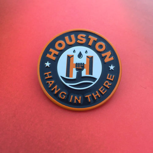 GIVE BACK: HANG IN THERE HOUSTON Enamel Pin