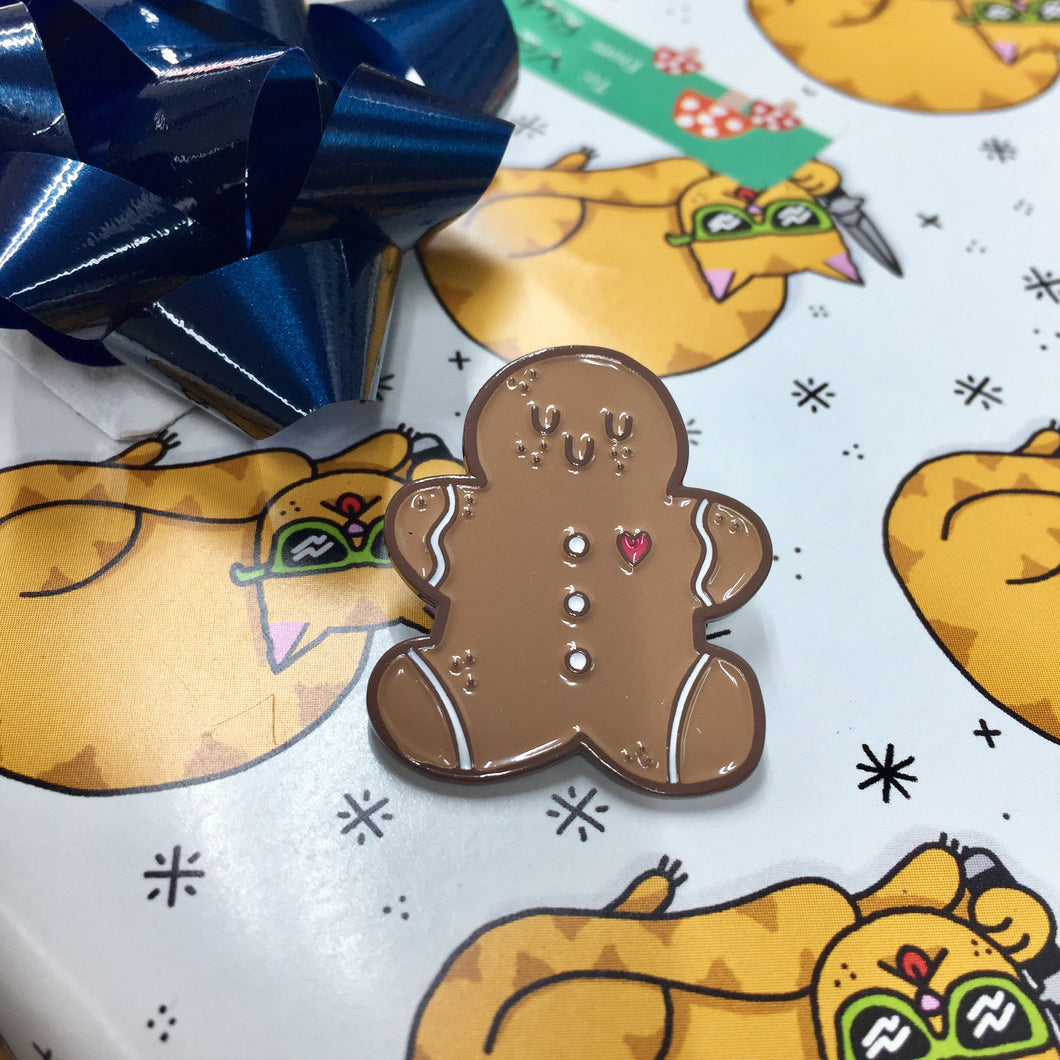 Gingerbread Cookie Enamel Pin