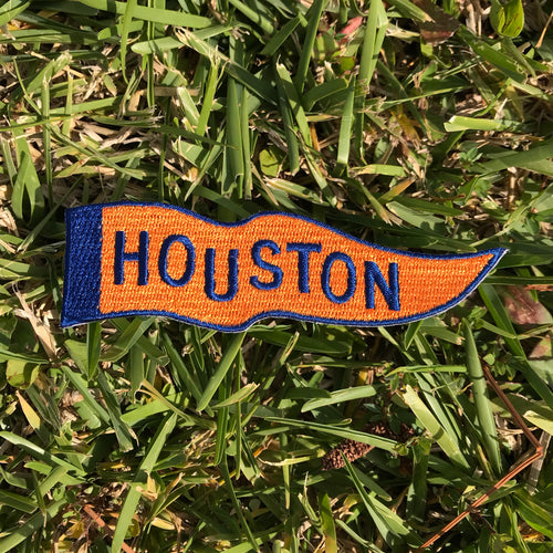 Wavy Houston Pennant Patch