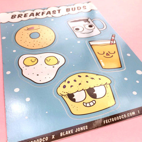 Breakfast Buds Sticker Pack