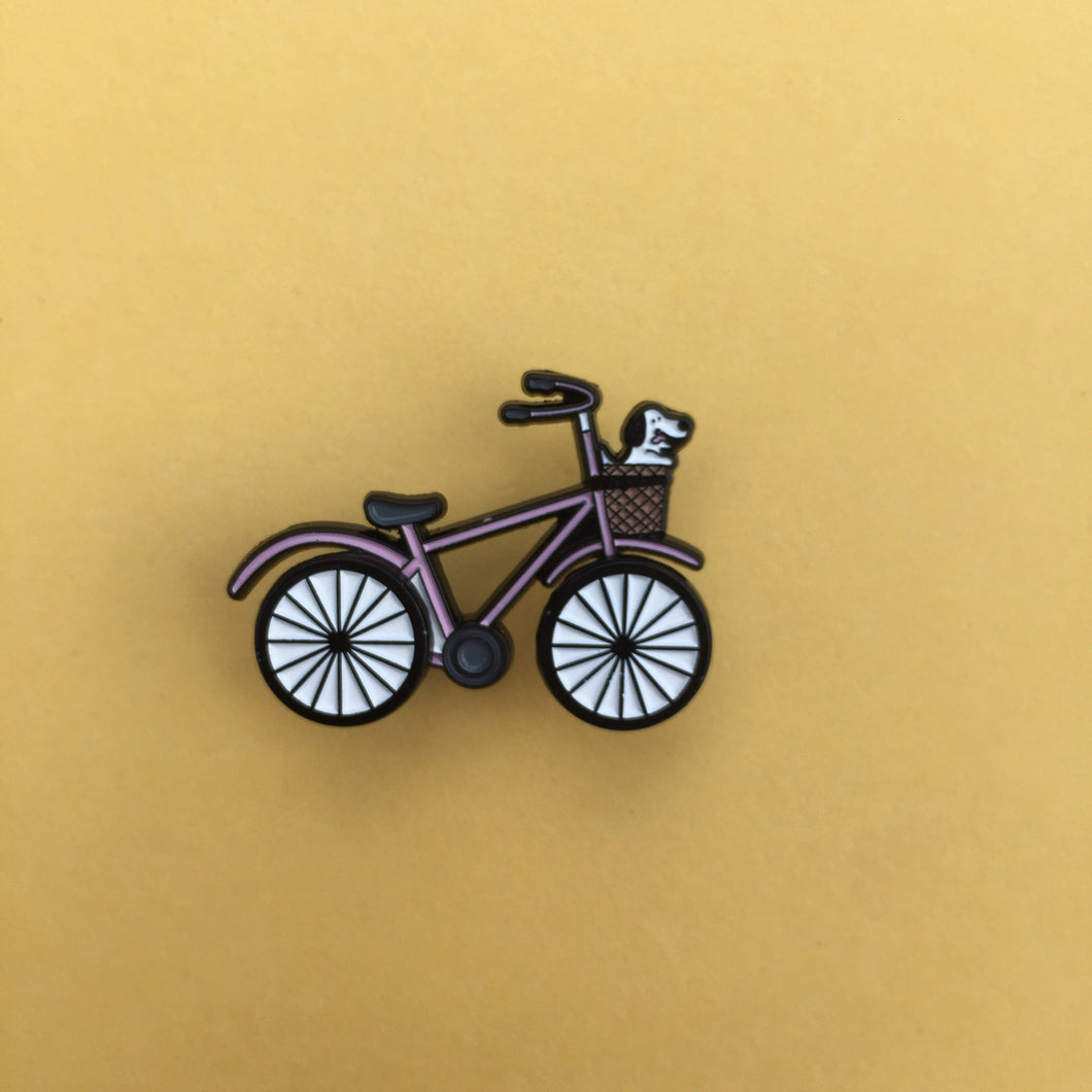 Cool Bike w/ Doggo Enamel Pin