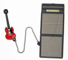 Amp STACK & Guitar Chain Enamel Pins