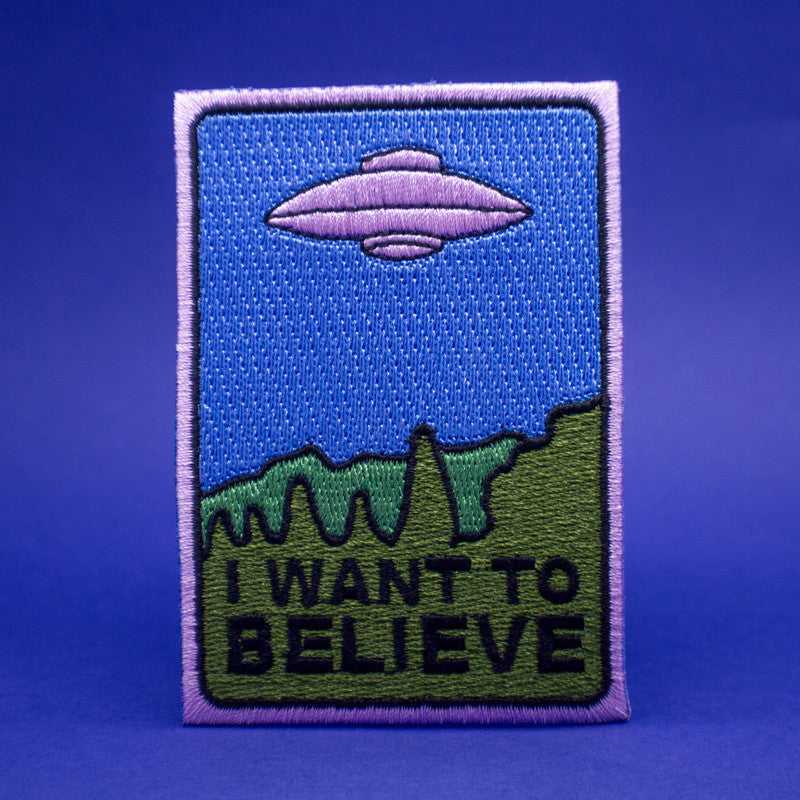I Want To Believe - Springfield Files Embroidered Patch