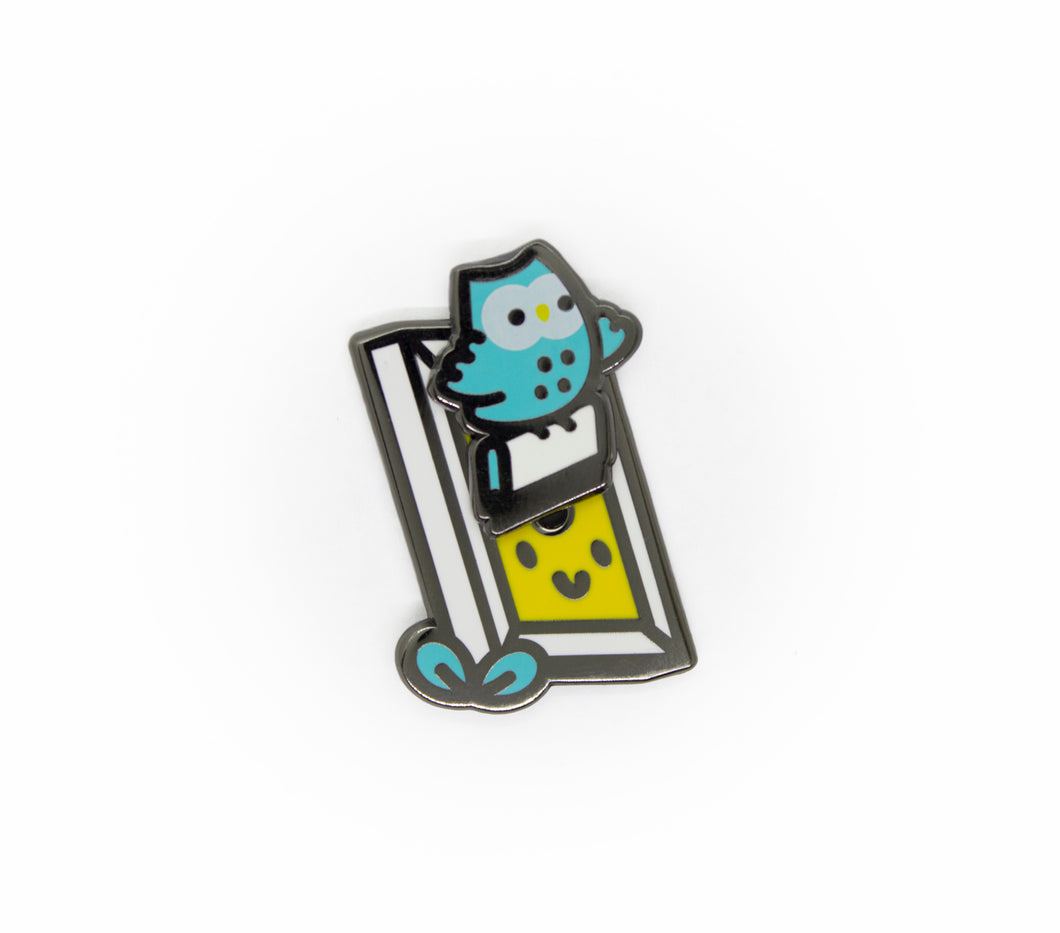 Night Owls - Mochichito Printing Owl Enamel Pin