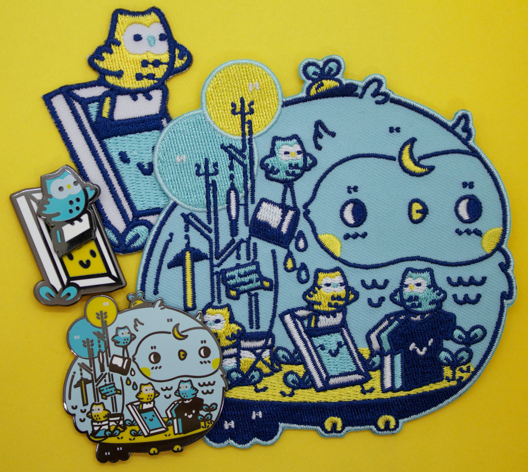 Night Owls - Mochichito Pin & Patch Set