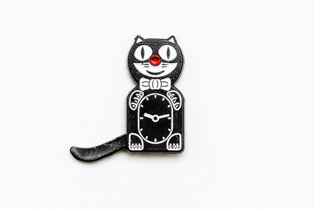 Cat Clock Enamel Pin