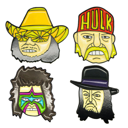 Slam Pack Wrestlers Pin Set