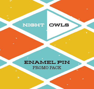 Night Owls - Enamel Pin Sample Pack