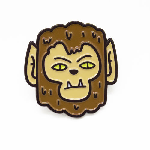 Wolf Guy Enamel Pin