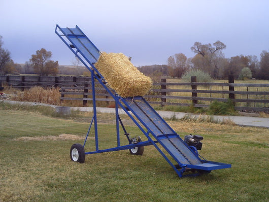 Make your own small bale conveyor, hay elevator, DYI plans