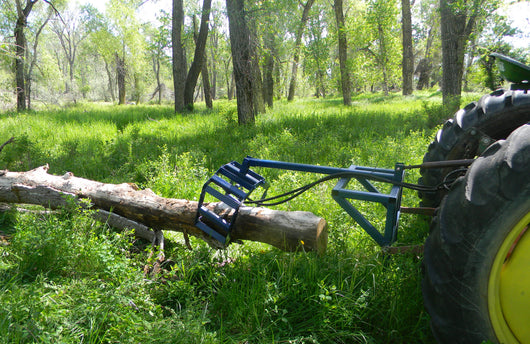 Tractor mounted log grapple plans