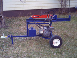 Log Splitter Plans, Make your own log splitter, making a log splitter, trailer type log splitter