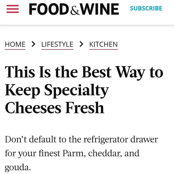 Food & Wine Praises Cheese Grotto!!