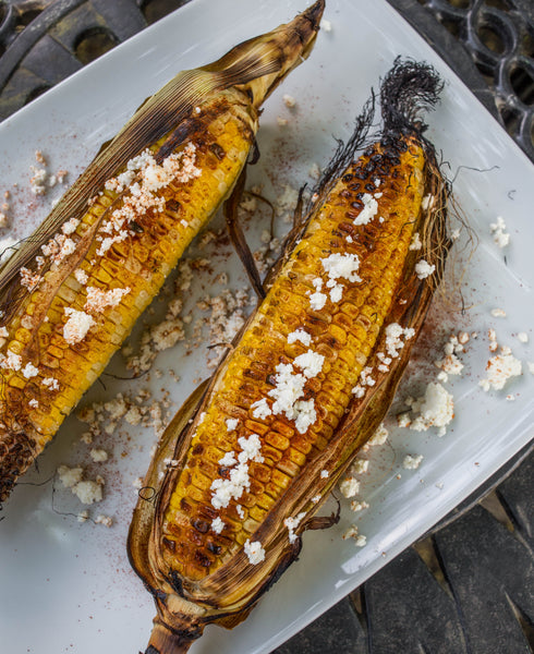 Grilled Corn with Queso Blanco (Mexican Street Corn)