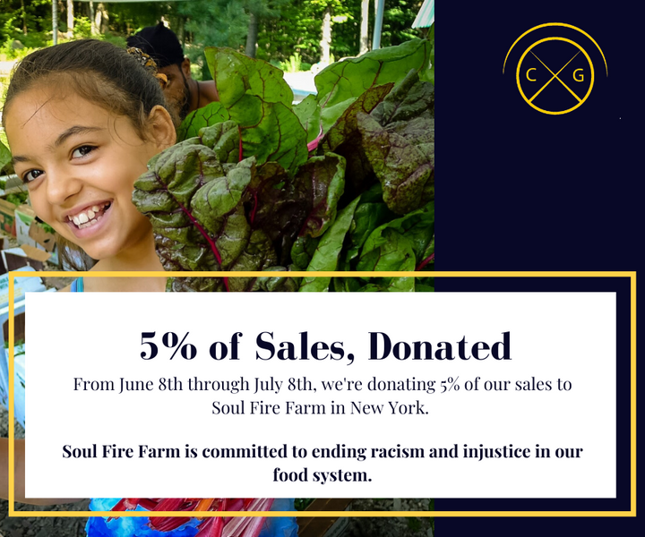 5% of Sales Donated to Soul Fire Farm