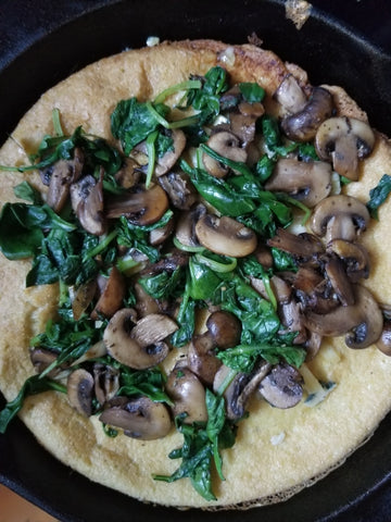 Savory Dutch Baby Pancake with Bayley Hazen Blue