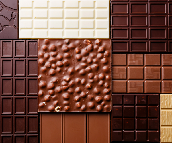 different types of chocolate bars