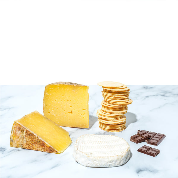 cheese and chocolate gift package