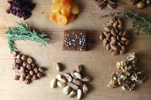 Tasting board with nuts