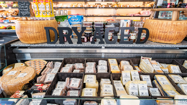 grocery store cheese case