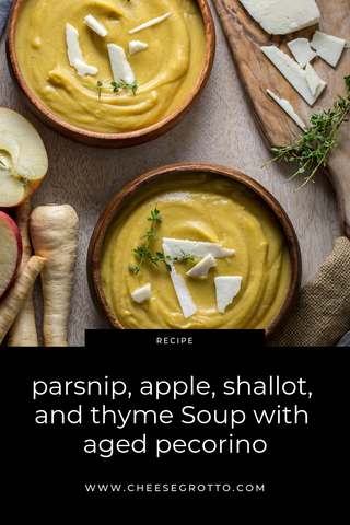 Parsnip Apple Soup with Aged Pecorino