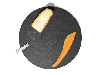 Circular Slate Cheese Board.
