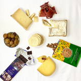 three cheeses and accompaniments