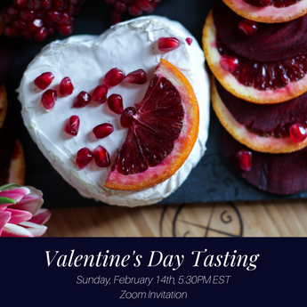 Valentine's Wine, Cheese & Chocolate Virtual Tasting on Sunday, February 14th