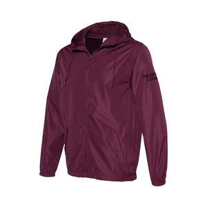 2021 NLC - Water-Resistant Lightweight Maroon Windbreaker