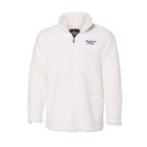 Open image in slideshow, 2021 NLC - Unisex Sherpa Natural Fleece Quarter-Zip Pullover