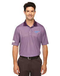 Men's Purple Striped Polo