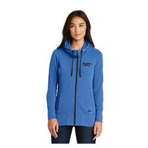 Open image in slideshow, 2020 NLC - New Era Ladies Tri-Blend Fleece Full-Zip Hoodie