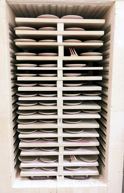 Our latest Giveaway– Guess how many pots are in this kiln!