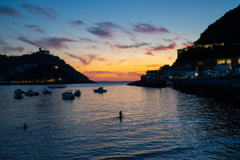 sunset-swim-san-sebastian