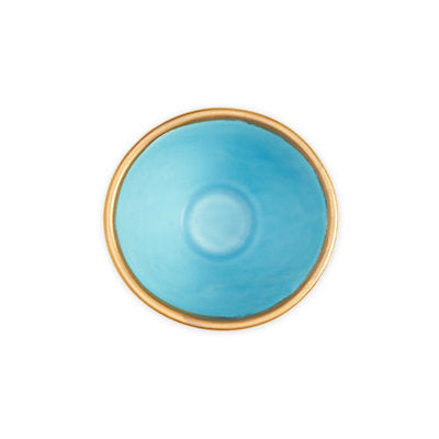 Lexington Snack Bowl - Turquoise and Gold