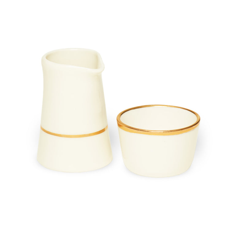 Creamer Set- White and gold