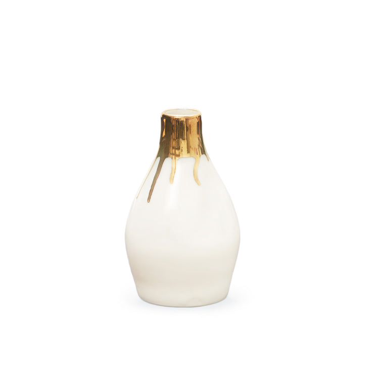 Ltd. Edition Gramercy Bottle Vases - Gold Rims