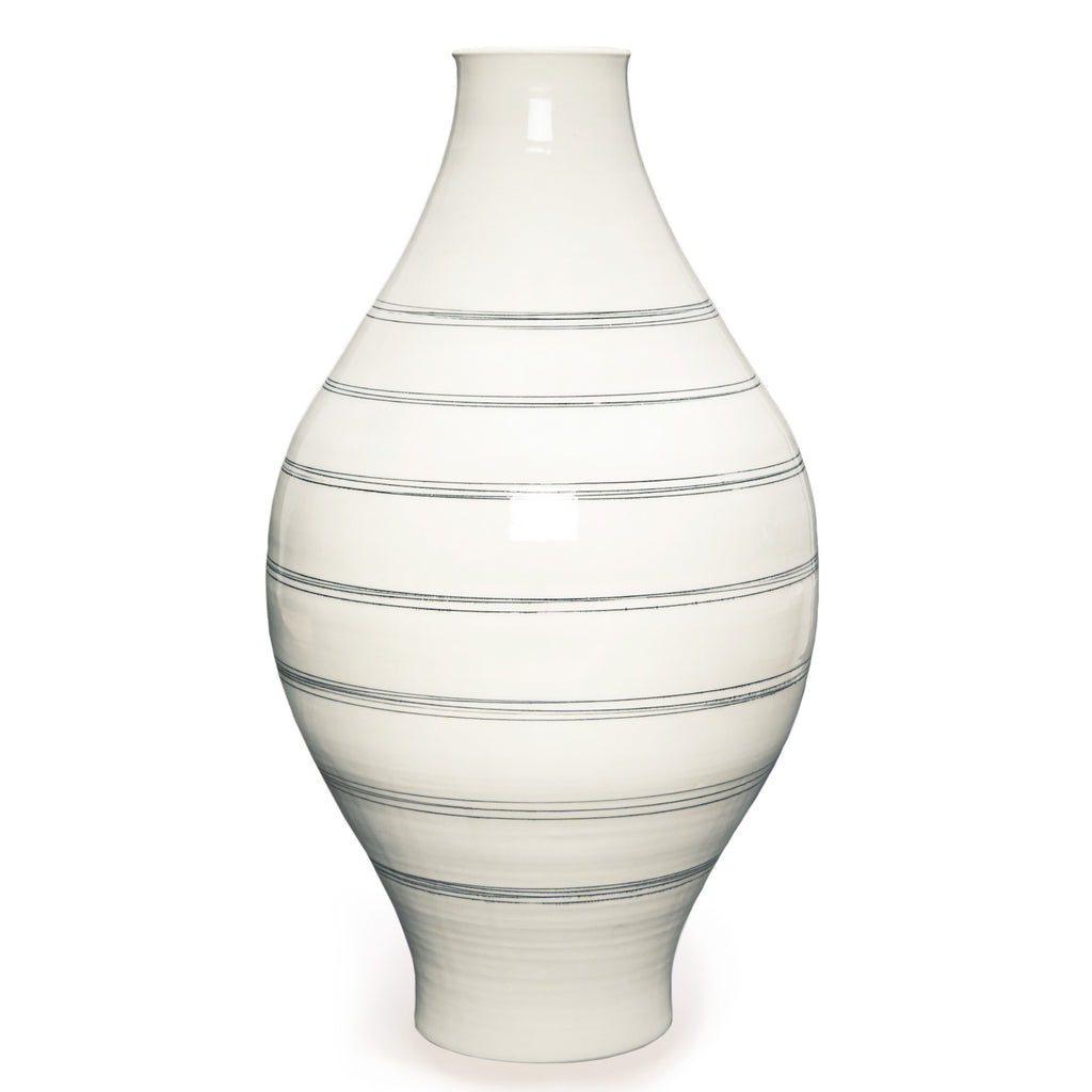 Ltd. Edition Thrown Round Lines Vase