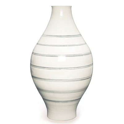 Ltd. Edition Hand-Thrown Round Lines Vase