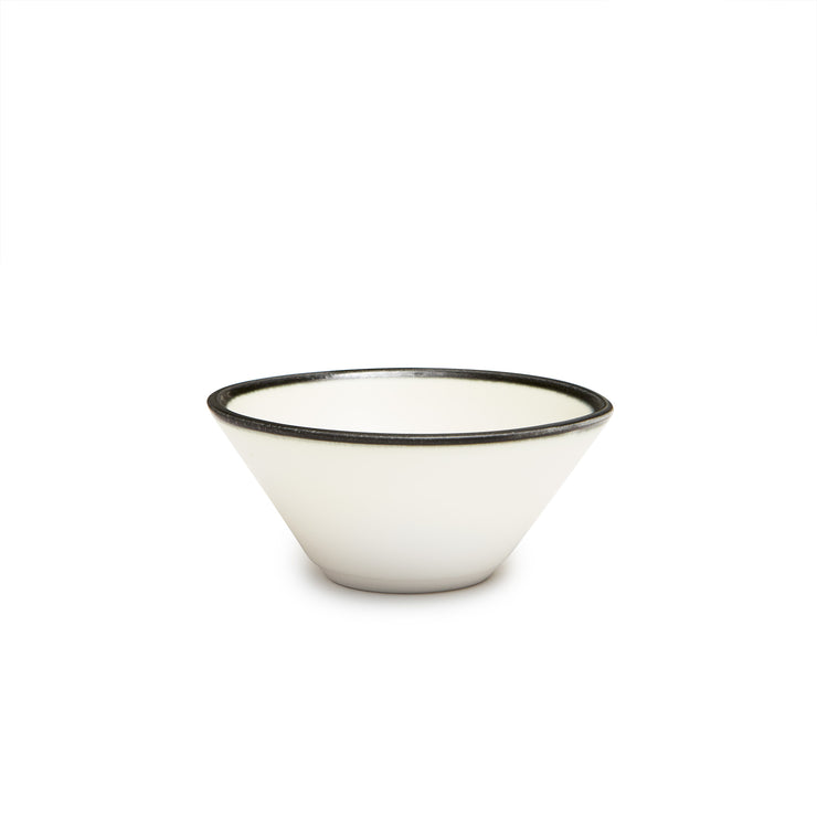 Lexington Snack Bowl- Black Banded Rim
