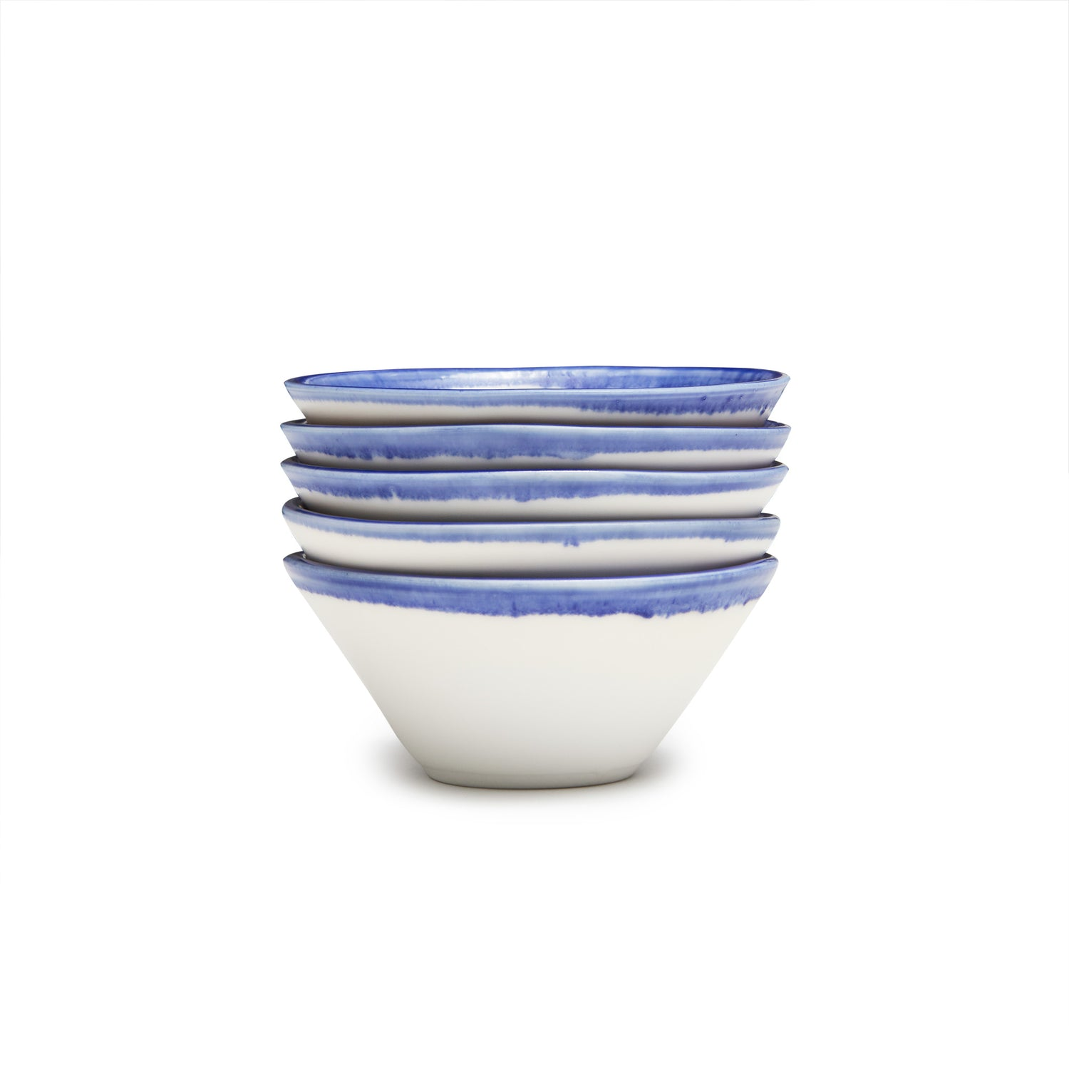 Sm. Lexington Bowl- Blue Banded Rim