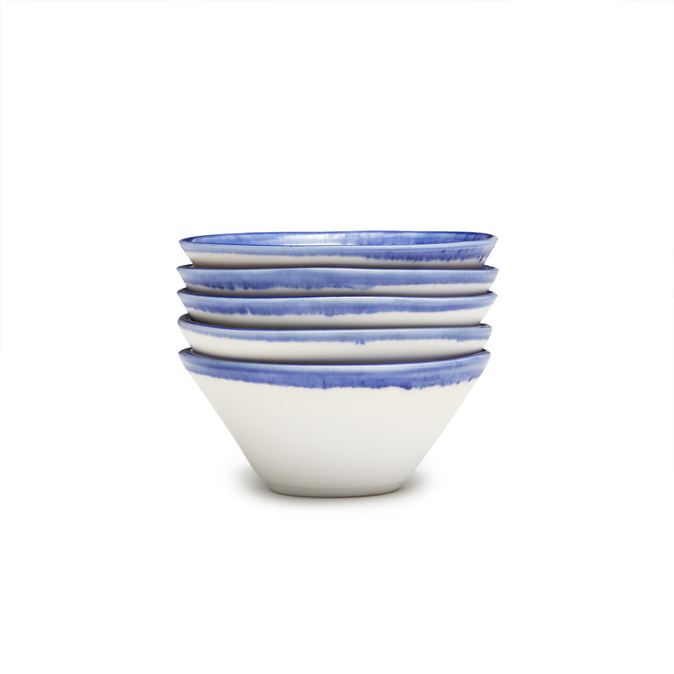 Lexington Snack Bowl - Blue Banded Rim