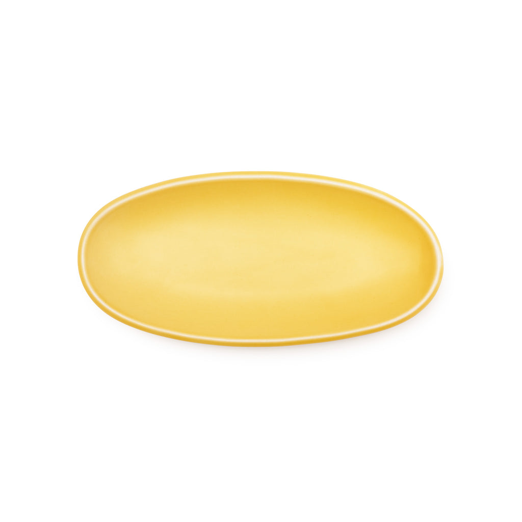 Oval Sides Bowl - Yellow